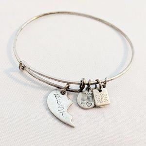 "Alex and Ani Silver ""Best"" Friend Bracelet"